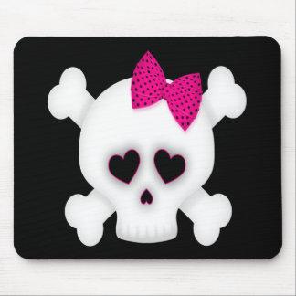 Cute Skull Mouse Pad