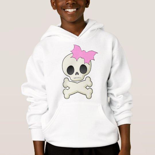 Cute Skull n Crossbones with Bat Bow Hoodie