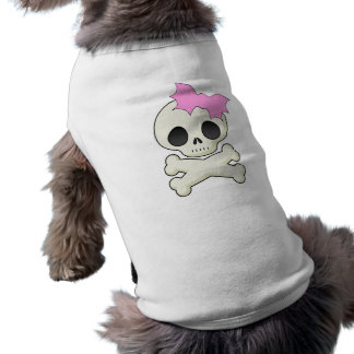 Cute Skull n Crossbones with Bat Bow Shirt