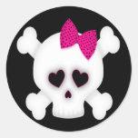 Cute Skull Round Sticker
