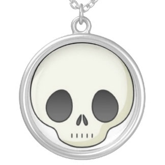 cute-skull-sm-20090409-142940 round pendant necklace