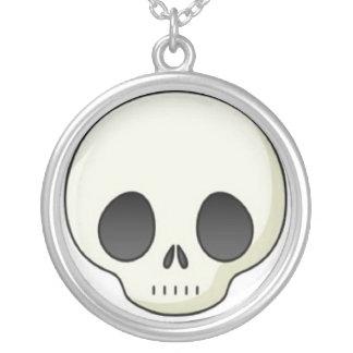 cute-skull-sm-20090409-142940 round pendant necklace