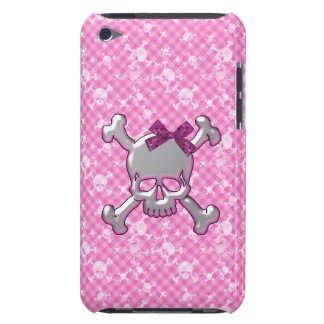 Cute Skull with Ribbon Pink iPod Touch Case