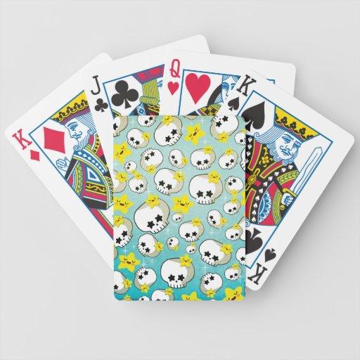 Cute Skulls And Stars Pattern Card Deck