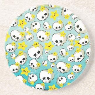 Cute Skulls And Stars Pattern Coaster