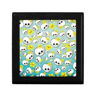 Cute Skulls And Stars Pattern Gift Box