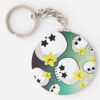 Cute Skulls And Stars Pattern Keychain