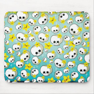 Cute Skulls And Stars Pattern Mouse Pad