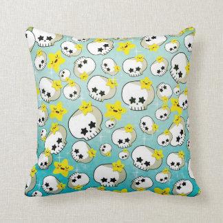Cute Skulls And Stars Pattern Pillows