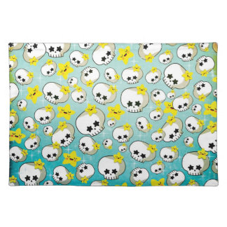 Cute Skulls And Stars Pattern Placemat
