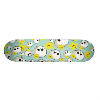 Cute Skulls And Stars Pattern Skateboard