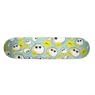 Cute Skulls And Stars Pattern Skateboard Decks