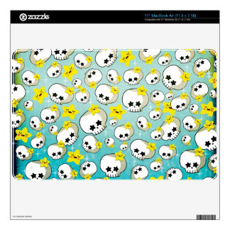 Cute Skulls And Stars Pattern Decal For MacBook
