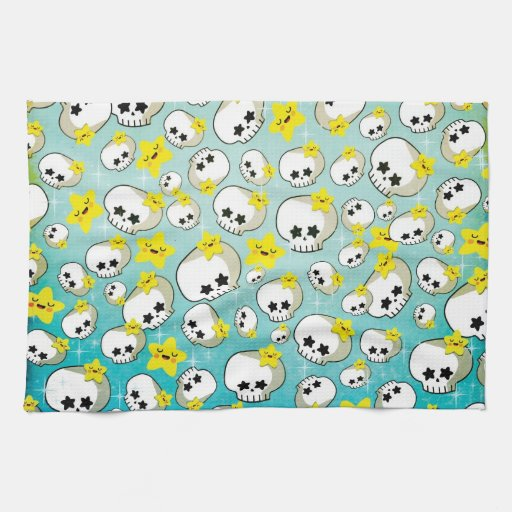 Cute Skulls And Stars Pattern Towels