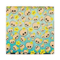 artsprojekt, skulls, halloween gift, halloween pattern, halloween, star, kawaii gift, skulls pattern, cute skull, skull gift, kawaii pattern, cute pattern, kawaii graphic design, kawaii, kawaii skull, kawaii star, cute, skulls gift, skulls present, kawaii present, halloween present, cute halloween, stars, [[missing key: type_mitercraft_woodencoaste]] com design gráfico personalizado