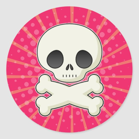 Cute Skulls Classic Round Sticker
