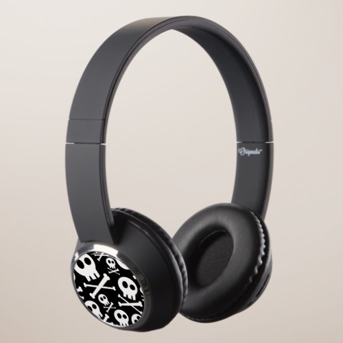 Cute Skulls Headphones