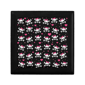 Cute skulls jewelry box