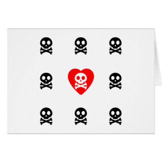 Cute Skulls Love Card