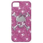 Cute Skulls & Polka Dots Pink iPhone 5 Case