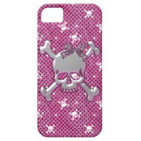 Cute Skulls & Polka Dots Pink iPhone 5 Case