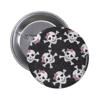 Cute Skully 2 Inch Round Button