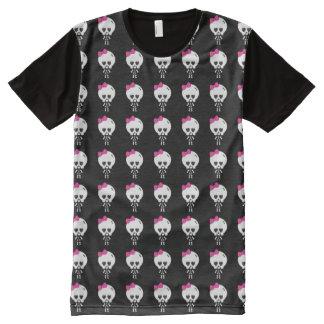 cute skully girl emo halloween All-Over print t-shirt