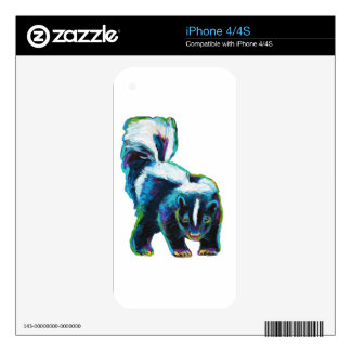 Cute Skunk by Robert Phelps Skin For The iPhone 4