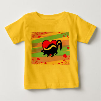 Cute Skunk Heart. Happy Anti-Valentines Day! Baby T-Shirt