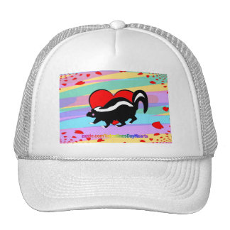 Cute Skunk Heart. Happy Anti-Valentines Day! Trucker Hat