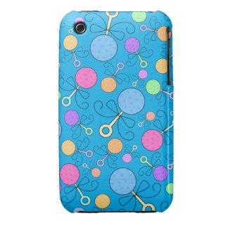 Cute sky blue baby rattle pattern Case-Mate iPhone 3 case