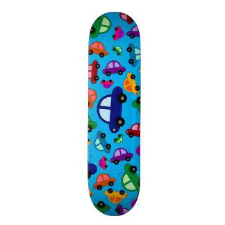 Cute sky blue cars custom skateboard