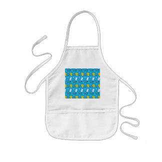 Cute sky blue chick bunny egg basket easter kids' apron