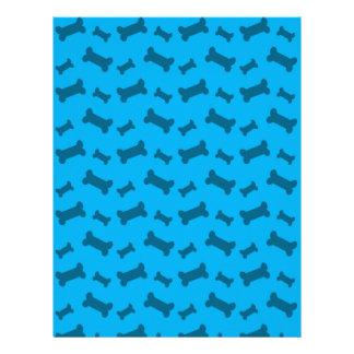 Cute sky blue dog bones pattern letterhead