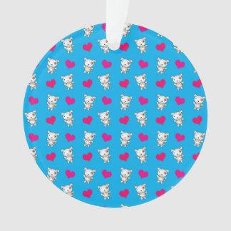 Cute sky blue dog hearts pattern