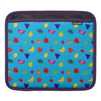 Cute sky blue fruits pattern sleeves for iPads