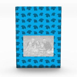 Cute sky blue mushroom pattern awards