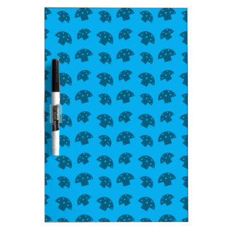 Cute sky blue mushroom pattern dry erase whiteboards