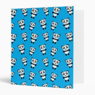 Cute sky blue panda pattern 3 ring binder
