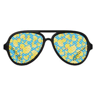 Cute sky blue rubber ducks aviator sunglasses