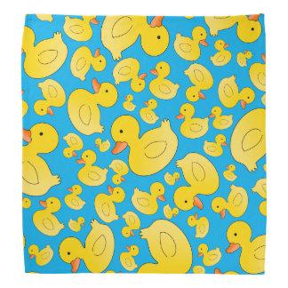 Cute sky blue rubber ducks bandana