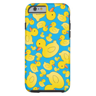 Cute sky blue rubber ducks iPhone 6 case