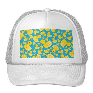 Cute sky blue rubber ducks hat