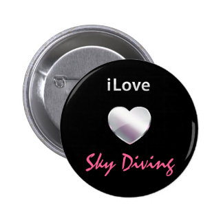 Cute Sky Diving 2 Inch Round Button