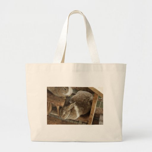Cute Sleeing Rabbit Canvas Bags