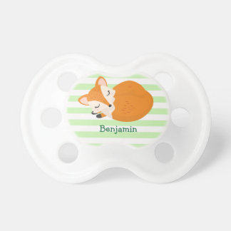 Cute Sleeping Baby Fox to Personalize Pacifier