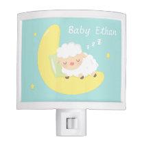 Cute Sleeping Baby Lamb Kids Nursery Room Decor Night Light