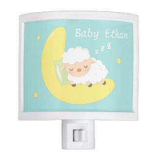 Cute Sleeping Baby Lamb Kids Nursery Room Decor Night Light