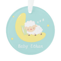 Cute Sleeping Baby Lamb Kids Nursery Room Decor Ornament