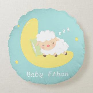 cute pillow clipart. cute sleeping baby lamb kids nursery room decor round pillow clipart